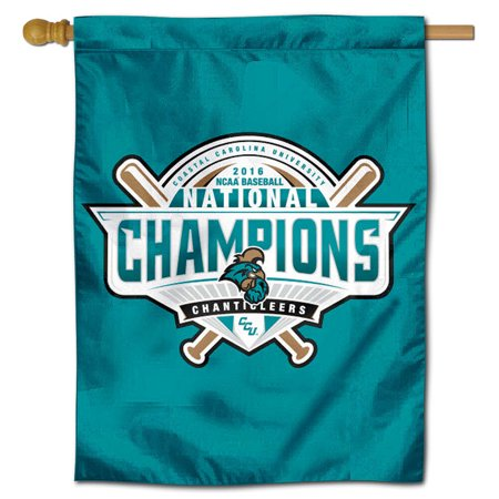 """CCU Chanticleers College World Series Champs 30"""" x 40"""" Double Sided House Flag"""