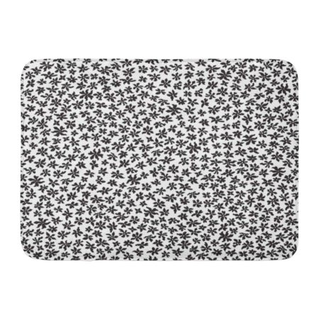 GODPOK Boho Floral Pattern from Small Black Flowers in Chaotic Order Trendy Style White Batik Chintz Abstract Rug Doormat Bath Mat 23.6x15.7 inch (Black Chintz)