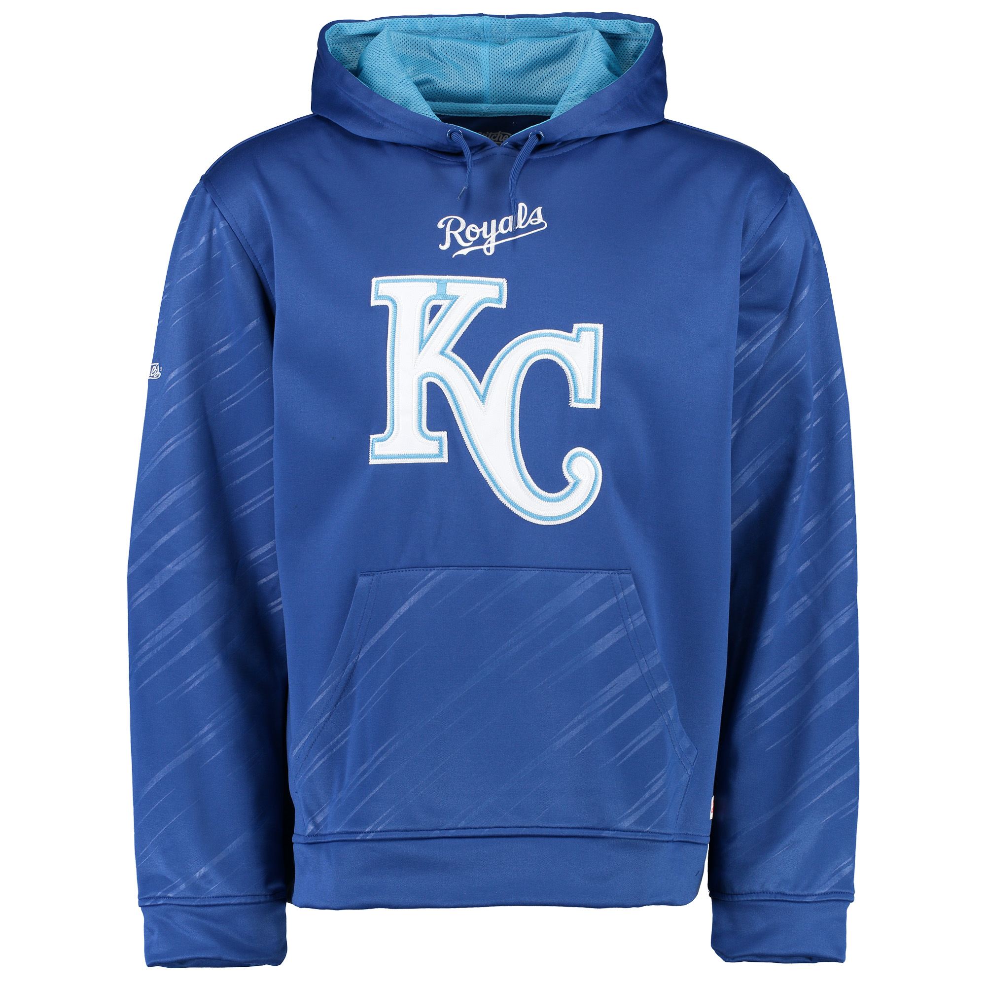 Kansas City Royals Stitches Pullover Fleece Hoodie with Contrast Hood - Royal