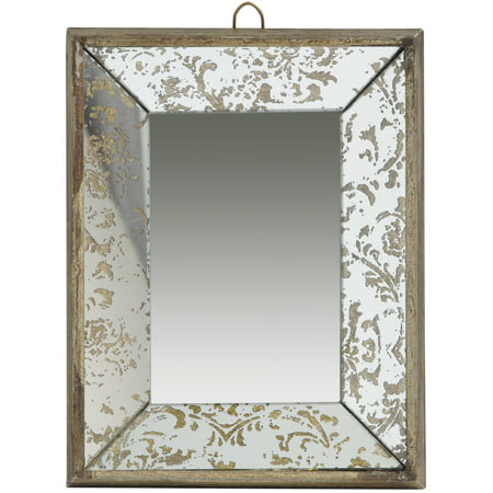 A Home Antique Style Frameless Wall Mirror Tray