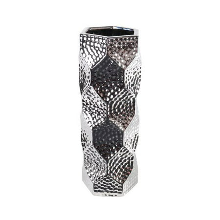 Lerman Decor Silver Ceramic Vase, 1 (Ceramic Tortoise Vases)