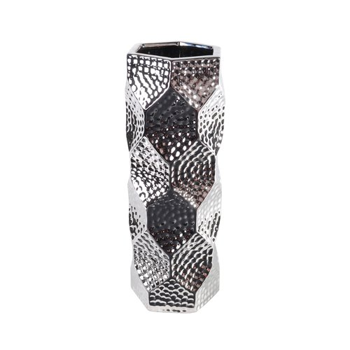 Lerman Decor Silver Ceramic Vase