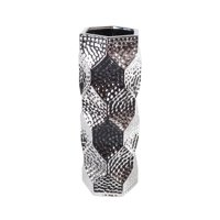 Lerman Decor Silver Ceramic Vase, 1 Each