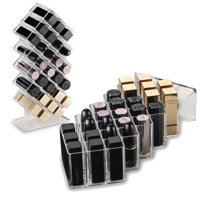 byAlegory Acrylic Honeycomb Lipstick Makeup Organizer 28 Spaces | Designed To Stand & Lay Flat