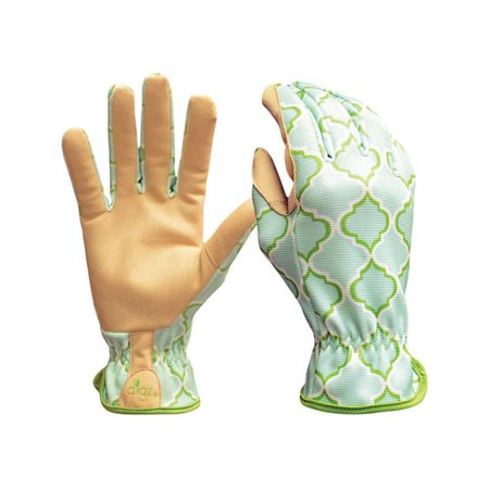 Image of Womens Synthetic Leather Planter Gardening Gloves - Blue Large
