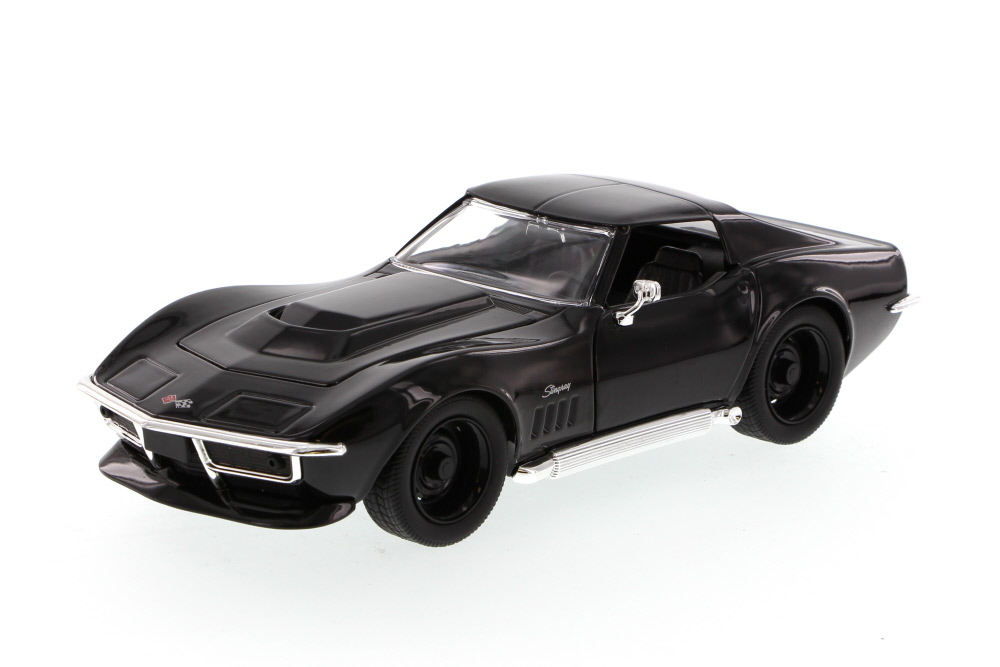 1969 Chevy Corvette Stingray ZL-1, Black Jada Toys Bigtime Muscle 96887 1 24 scale Diecast... by Jada