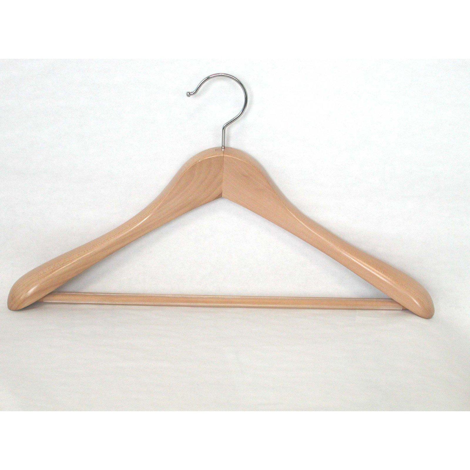 Set of 12 Taurus Suit Hanger w Trouser Clamp in Mahogany
