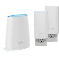 NETGEAR Orbi Whole Home Mesh WiFi System with Tri-band AC2200 WiFi System (RBK33-100NAS)