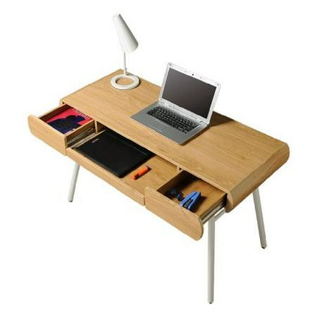 Awe Inspiring Modern Design Semi Assembled Minimal Contemporary Computer Desk Pine Download Free Architecture Designs Salvmadebymaigaardcom