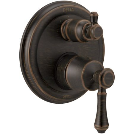 Delta Cassidy Traditional 2-Handle Monitor 14 Series Valve Trim with 3-Setting Integrated Diverter, Venetian Bronze