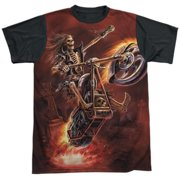 Anne Stokes - Hellrider - Short Sleeve Black Back Shirt - XXX-Large