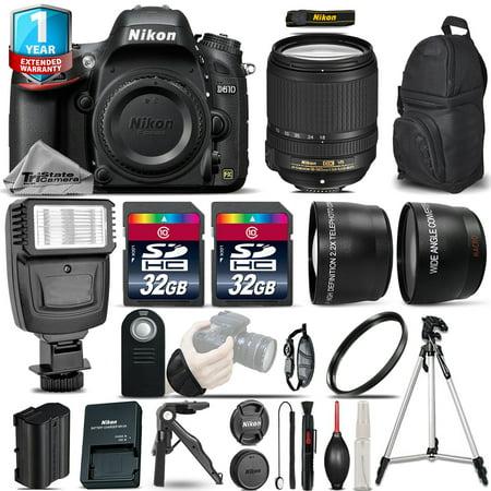 Nikon D610 DSLR Camera + 18-140mm VR - 3 Lens Kit + Flash + 1yr Warranty + 64GB