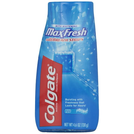 Colgate Max Fresh Liquid Toothpaste with Mini Breath Strips, Cool Mint, 4.6 oz