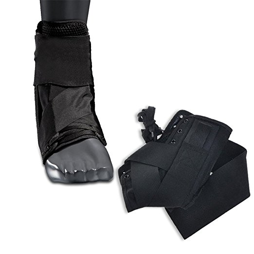 Houseables Ankle Brace Stabilizer with Figure 6 Straps, (Single) (Small), Sprain Support, Breathable Super Polyester/Vinyl Mesh, Lightweight, Adjustable, Left or Right Foot