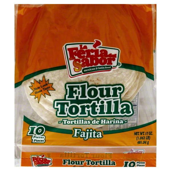 La Feria Del Sabor Tortilla, Flour, Fajita