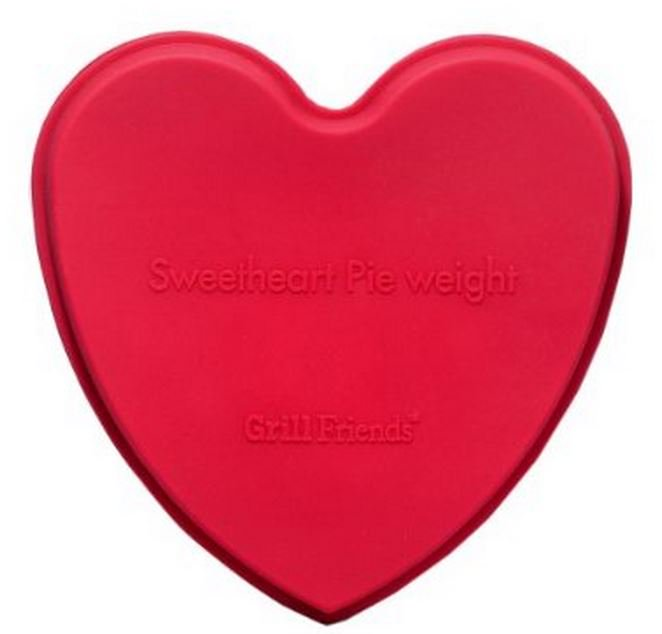 "HIC 60548 Sweetheart Pie Weight Silicone, 5.5"" x 5"""