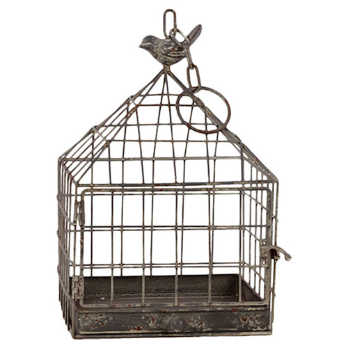 Woodland Imports Wire Mesh Metal Bird Cage