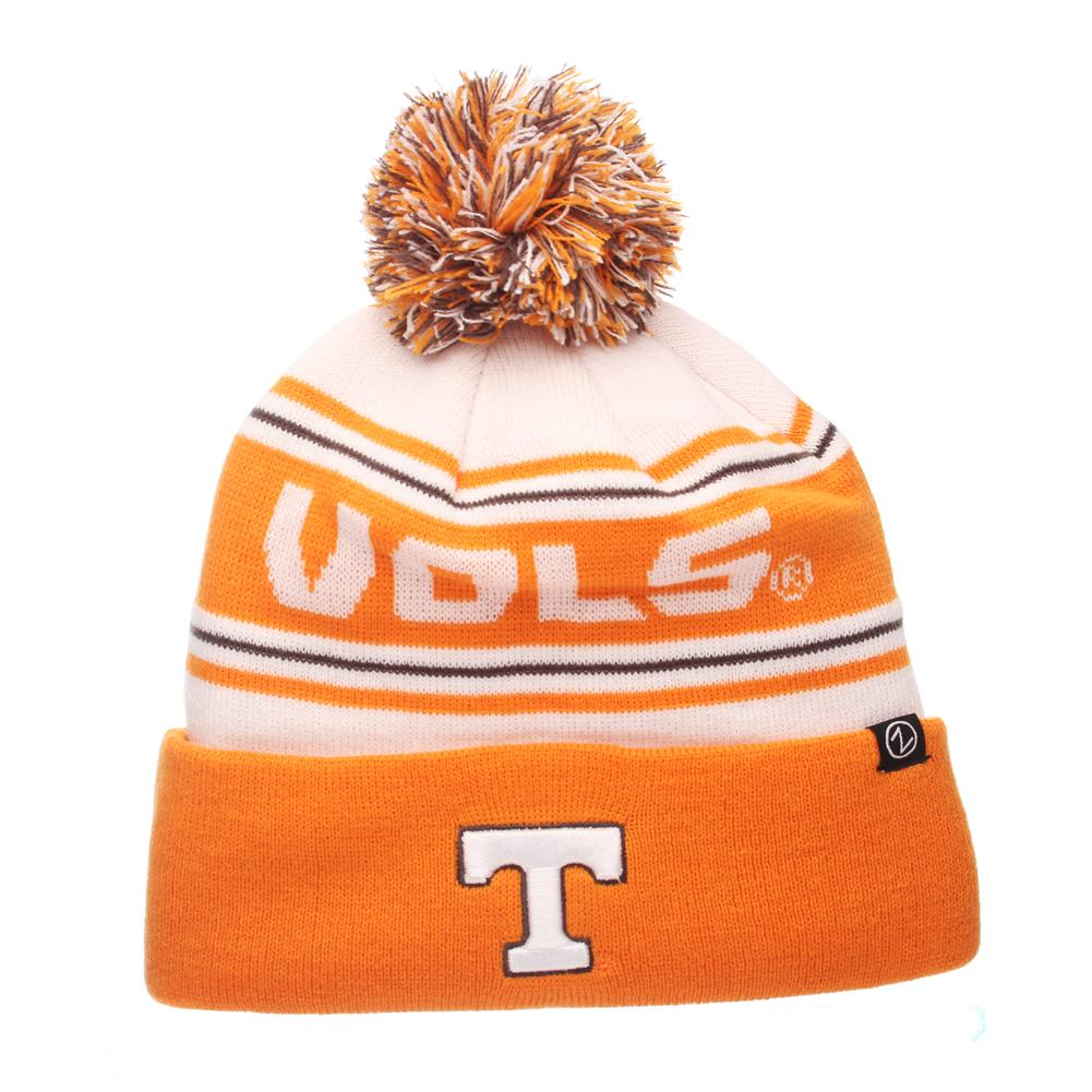 Zephyr Finish Line Tennessee Volunteers Vols UT Beanie Knit Toboggan