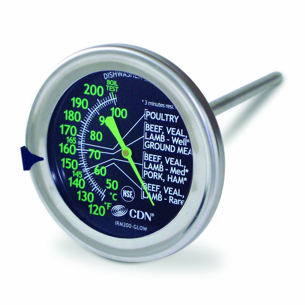 IRM200-GLOW ProAccurate Meat Poultry Oven Thermometer-Extra Large Glow-in-the-Dark Dial-NSF Certified,... by