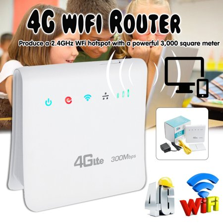 Evdo Card Router - 300Mbps 4G LTE Wireless Router Mobile Wifi SIM Card Wireless CPE with LAN Port