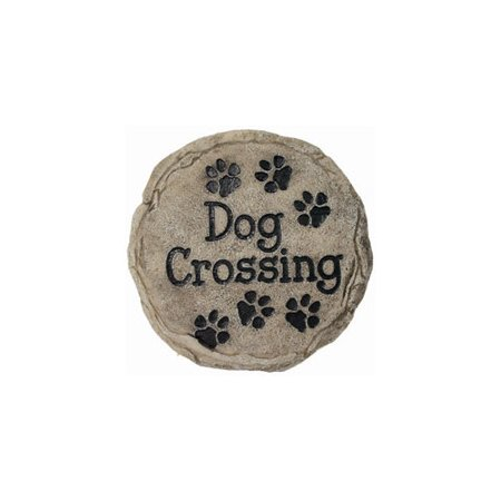 SPOONTIQUES 13341 9 STEPPING STONE  DOG CROSSING ()