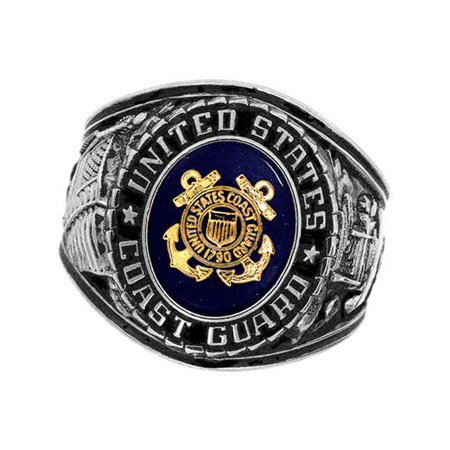 Official US Coast Guard Deluxe Engraved Silver Color