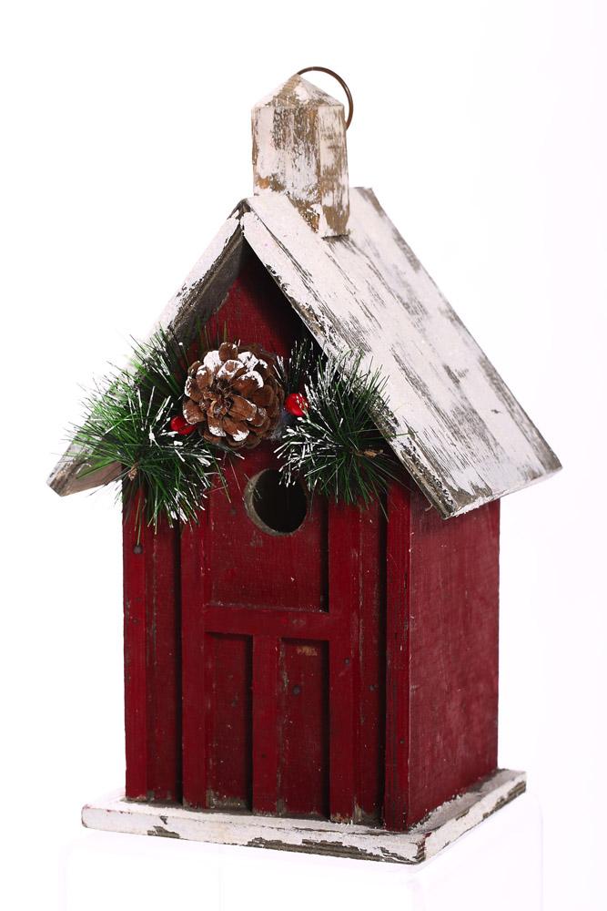Holiday Splendor Decorative Birdhouse by EVERGREEN ENTERPRISES