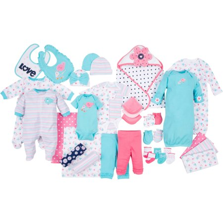 Gerber Newborn Baby Girl Perfect Baby Shower Gift Layette Set   33 Piece