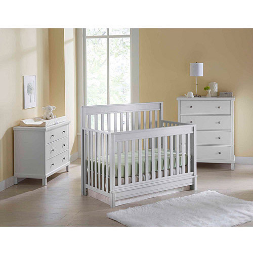 Sealy Bella Convertible Nursery Crib and accessories