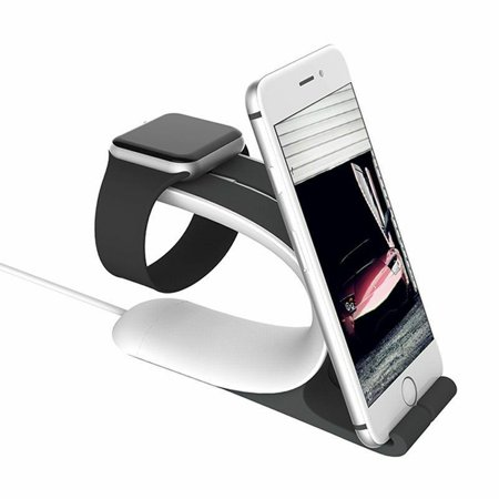 TOPCHANCES 2in1 Best Dock Stand Bracket Accessories Charging Holder Kit For Apple Watch iPhone iWatch