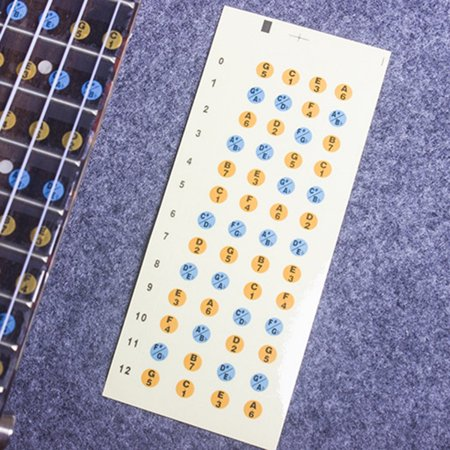 Ukulele Scale Sticker Paster Label On Neck Fretboard For Learning Beginner Guitar Musical Instruments Accessories part - image 2 of 4