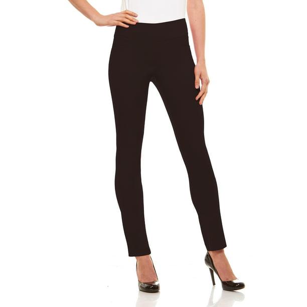 Brown Dress Pants Womens : Womens Straight Leg Dress Pants - Stretch Slim Fit Pull On Style, Velucci, Brown-XXL