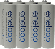 NEW Panasonic Eneloop 4th generation 8 Pack AA NiMH Pre-Charged Rechargeable Bat…