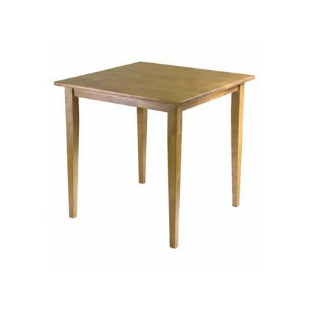 winsome wood groveland square dining table light oak finish. Black Bedroom Furniture Sets. Home Design Ideas