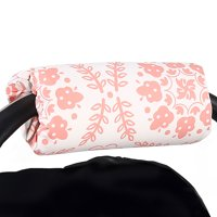 Coral Pink Medallions Car Seat and Baby Carrier Cushion by The Peanut Shell