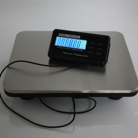 Ktaxon 660LBS LCD Postal Platform Digital Scale Shipping Pet Floor Bench 300KG Weigh
