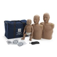 Prestan Value CPR Manikin 3 Pack with Adult, Child and Infant Manikins with CPR Monitors and Dark Skin Tone PP-FM-300M-DS