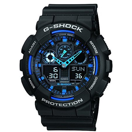 Men's G-Shock GA100-1A2 Black Resin Quartz Fashion Watch