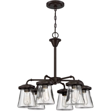 Litex Industries 6-Light Ceiling Chandelier, Bronze Finish