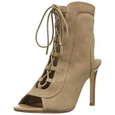 Joie Womens Freya Suede Stacked Heel Dress Sandals