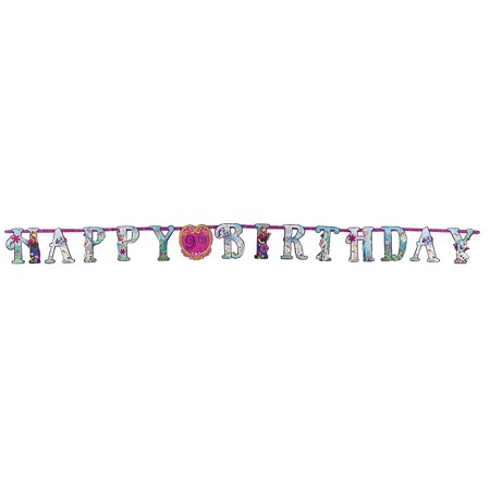 Disney Frozen AdD-AN-Age Banner for Birthday - Party Supplies - Licensed Tableware - Misc Licensed Tableware - Birthday - 1 Piece - Frozen Birthday Parties