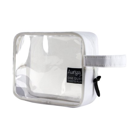 Tsa Roved Clear Travel Toiletry Bag Quart Size Airline Carry On Make Up