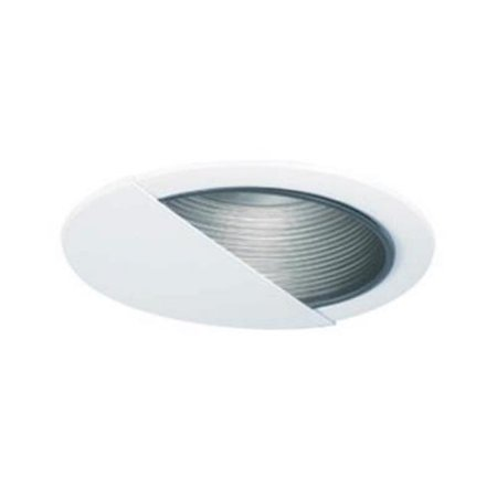 6 in. Line Voltage Wall Wash with Step Baffle, Black Baffle, White Trim