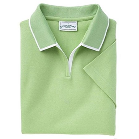Outer Banks 6094 Ladies Egyptian Diamond Knit Polo Shirt with Tipping M XL 2XL Spring Green (Medium)