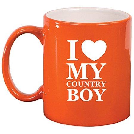 Ceramic Coffee Tea Mug I Love My Country Boy Orange Walmartcom