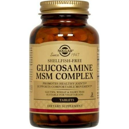 Glucosamine MSM Complex (mollusques et crustacés frais) Solgar 120 Tabs