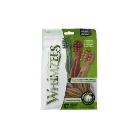 Whimzees Toothbrush Dental Dog Treats, Medium, 17 Count
