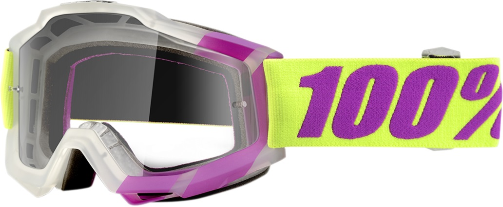 100% Accuri Tootaloo 2016 Snow Goggles Purple Green Clear Lens by 100%