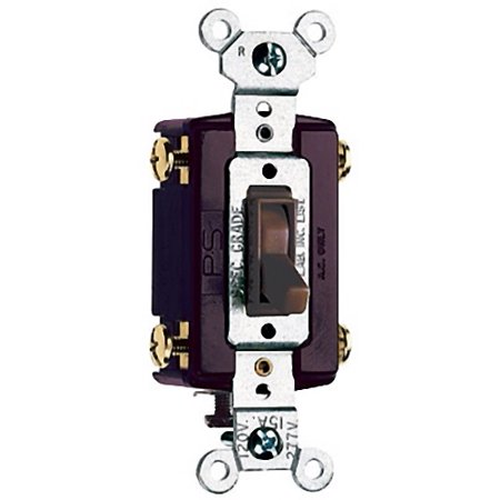 Pass and Seymour Brown 4-WAY COMMERCIAL Toggle Wall Light Switch 15A 664-G