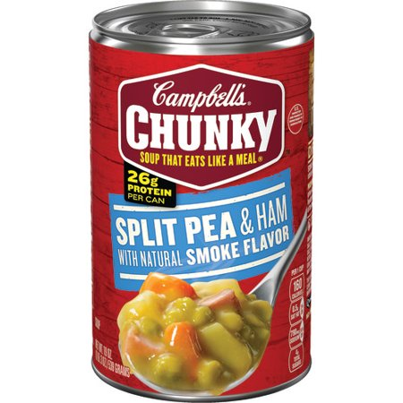 (5 Pack) Campbell's Chunky Split Pea & Ham with Natural Smoke Flavor Soup, 19